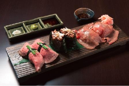 近江牛寿司 三種盛り